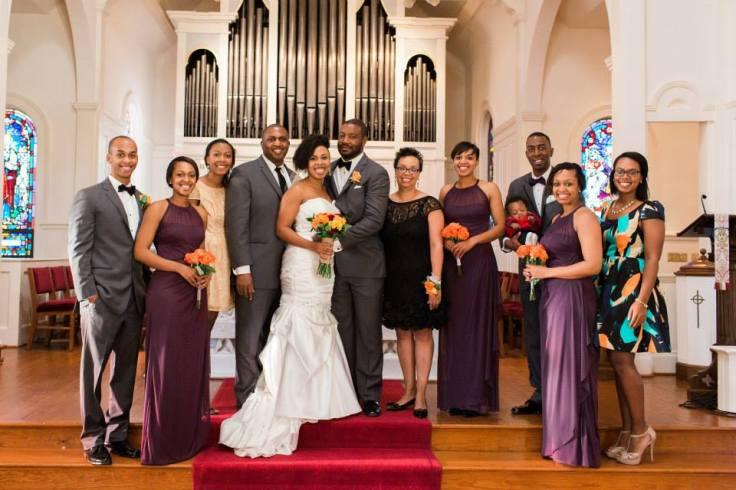 Family at Andrea's Wedding