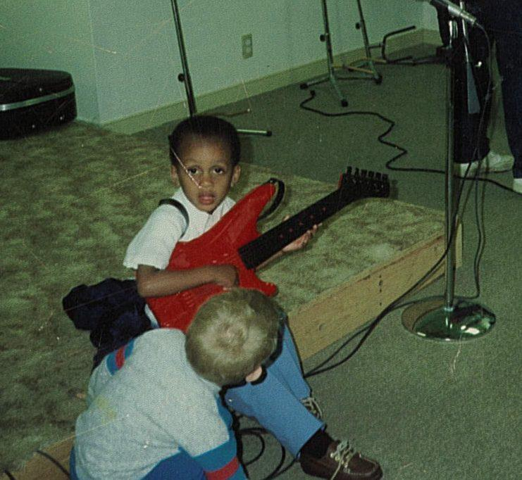 Little Michael with Guitar