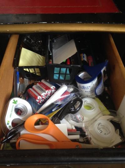 Messy Desk Drawer