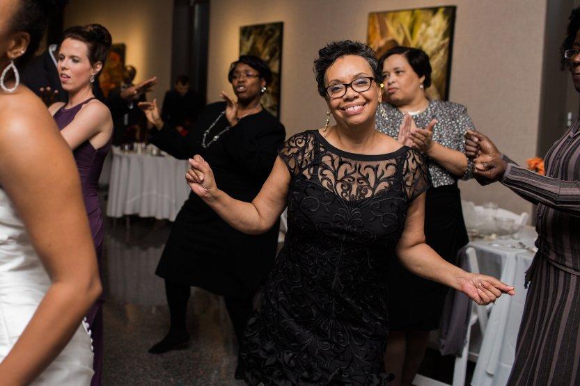 Mary dancing at wedding