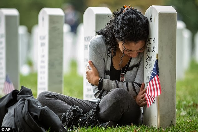 Grieving african american