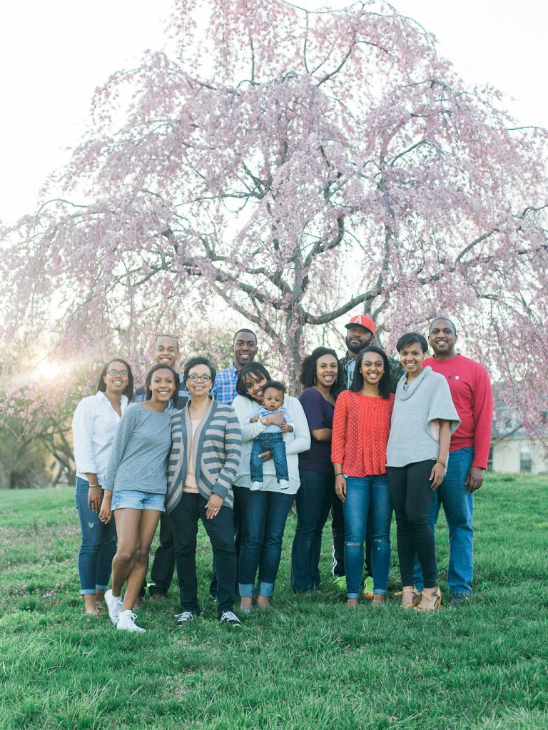Family Photo with Victorias Tree