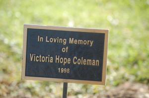 Victoria's Plaque