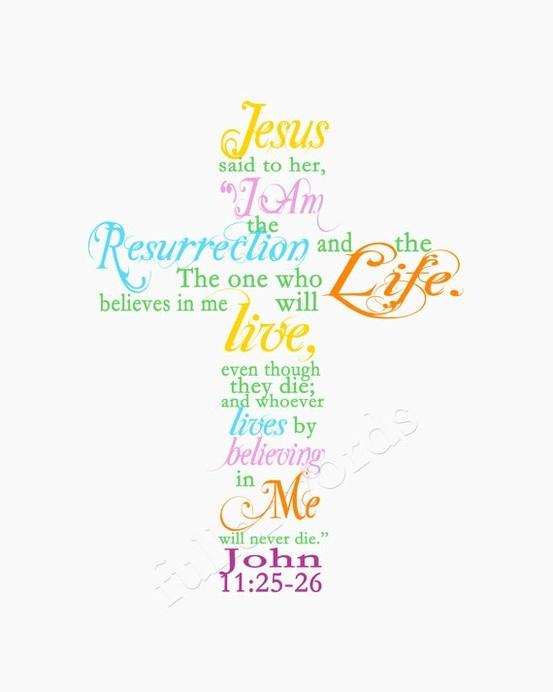 john 11.25-26 cross