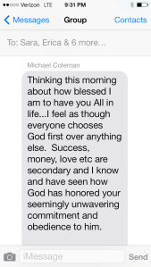 Michael's Text 1