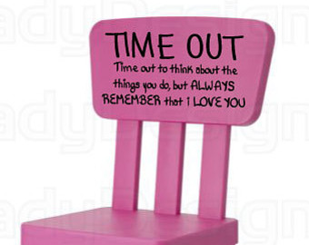 Pink Time Out Chair