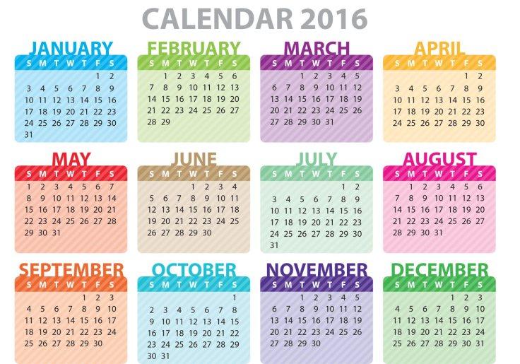 colorful-calendar-2016-vector