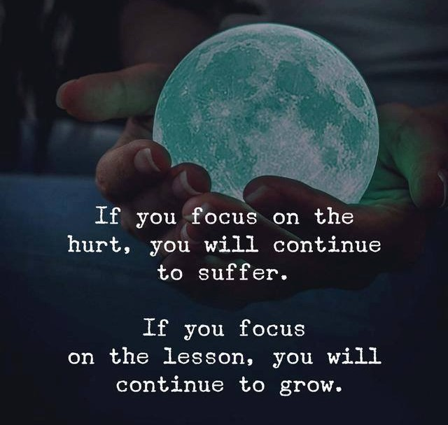 If you focus on the hurt